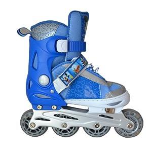 溜冰鞋儿童套装旱冰鞋全套可调直排轮滑鞋