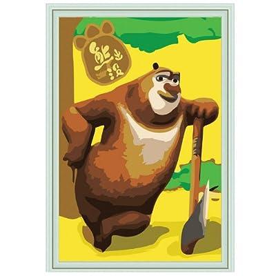 熊出没-熊大 diy手绘油画