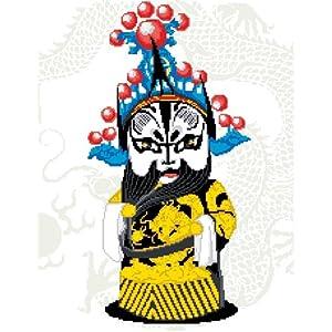 万众家园 十字绣 rw0102京剧脸谱-净 14ct 朵拉线 2股图片