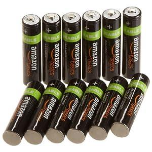 亚马逊 倍思 Amazon Basics AAA型 镍氢 预充电可充电电池(7号电,12 节,800 毫安)63.27元包邮