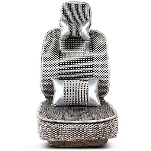 MR.MA马先生 汽车坐垫四季坐垫 新款通用汽车冰丝座垫四季通用 车垫套 汽车用品 (移动腰靠版, 雅致灰)-图片