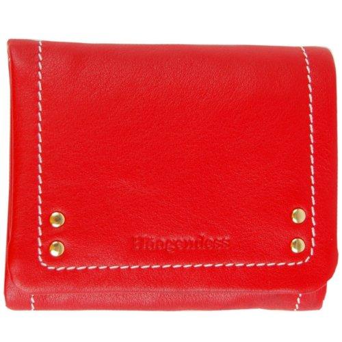 haagendess哈根德斯女士牛皮二折钱包(303301r)红色