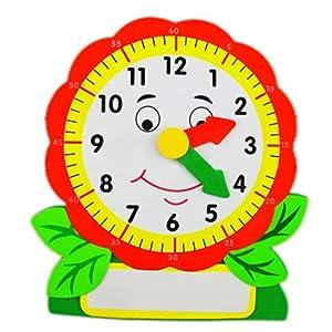 时间教具玩具儿童认知学习提升 附白板/笔 树叶,螃蟹,闹铃 树叶时钟