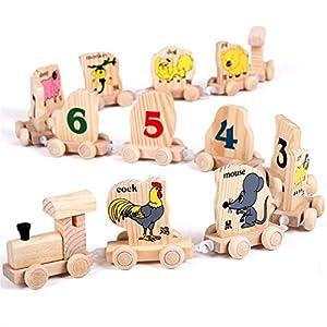 小皇帝12生肖火车/木制儿童益智玩具/木质拼装组装