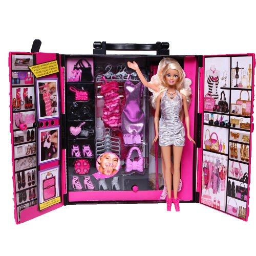 Barbie 芭比 X4833 梦幻衣橱(带娃娃)+ 芭比毛巾礼盒