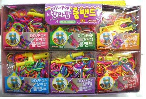 热销彩虹编织工艺皮筋儿童diy手工制作玩具手