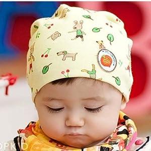春秋宝宝帽子卡通可爱保暖婴儿小baby休