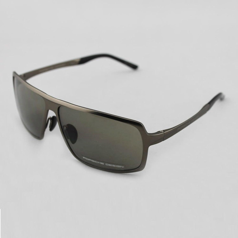 design 保时捷 porsche design 保时捷 男款金属镜框墨绿镜片眼镜太阳