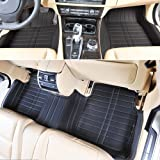 JuSaYo 车尚由 进口超纤皮革5层加厚高品质汽车脚垫(全包围脚垫 经典黑色)-路虎揽胜运动版专用 原车模板 高端定制-图片