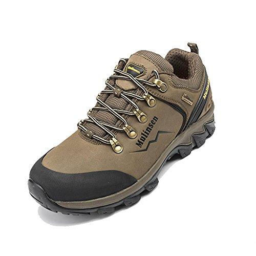木林森 户外徒步登山鞋耐磨 牛皮防滑户外鞋正品