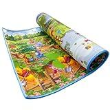 Disney 迪士尼双面加厚宝宝爬行垫20mm维尼水彩+百亩森林DSN2032 1.8m*1.5m*20mm 大回格和小回格包装随机发货-图片