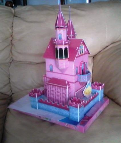 3d益智立体手工:公主城堡