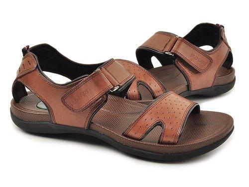 Plo-cart 舒适柔软头层牛皮魔术贴设计凉鞋 男 男凉鞋/凉拖 61933080-03 brown
