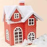 孙小圣圣诞节必备 雪屋 雪景布置装饰用品 大中小号纸板圣诞雪屋子 道具 SDJXW01(无配件,大号雪屋)-图片