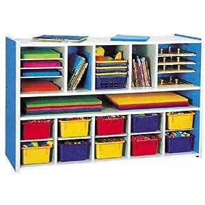 儿童防火板玩具柜幼儿园设备长方形玩具架5收拾