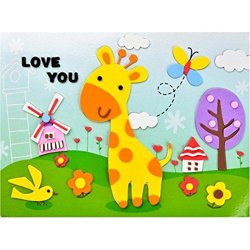 孩派eva贴画儿童手工制作 儿童益智玩具diy幼儿园手工 韩版贴纸