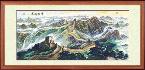 多美绣 dmc法国进口绣线 十字绣 风景 江南乡景-美丽的家园 14ct 白布