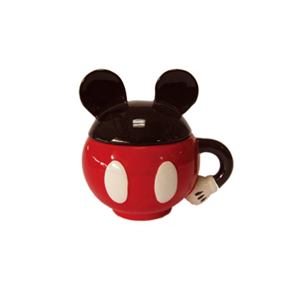 disney 米奇 马克杯 迪士尼陶瓷杯 米奇老鼠圆形 耳朵