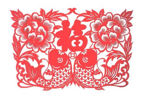 牡丹花剪纸图案