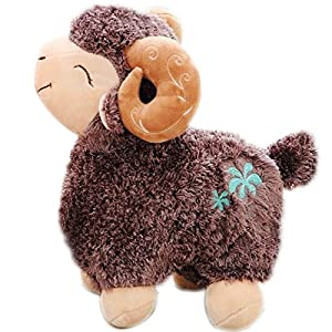 可爱羊年吉祥物开心羊驼毛绒玩具小羊公仔