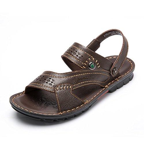MULINSEN 木林森 凉鞋男2015夏季新款真皮透气套筒日常休闲凉鞋沙滩鞋爸爸鞋