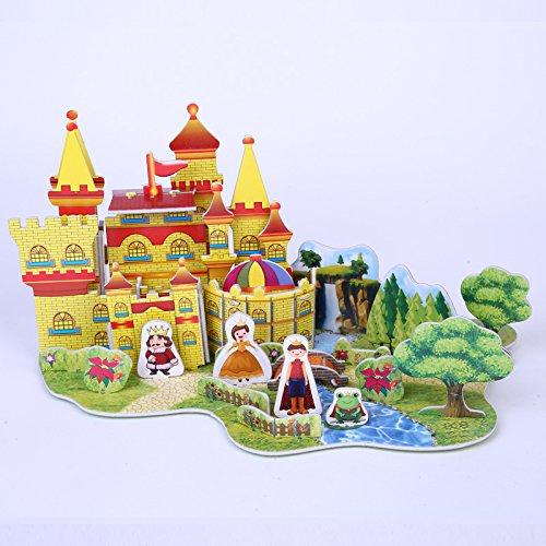 孩派 立体拼图 儿童仿真3d纸质模型 梦幻城堡 手工玩具 diy大四片