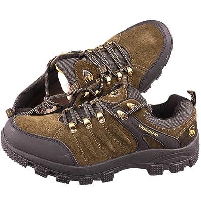 CAM.GNPAI 骆驼队长 男式 加大码户外登山鞋 218001666 棕色-军绿