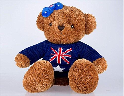 毛绒玩具 毛衣熊 米字女款熊 泰迪熊 抱抱熊 公仔 玩偶 布娃娃 靠垫抱