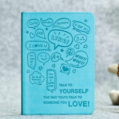 microland手绘爱情励志图案日记本韩国笔记本 变色pu封面记事本 精装