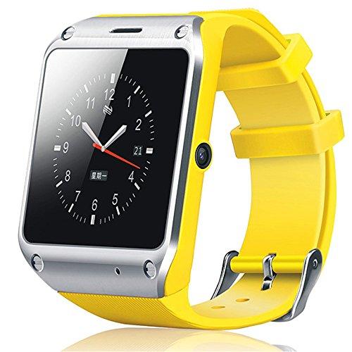 梦18 D5新型 蓝牙手表手机 手机伴侣 智能通用型 安卓苹果小米iphone (黄色)-图片