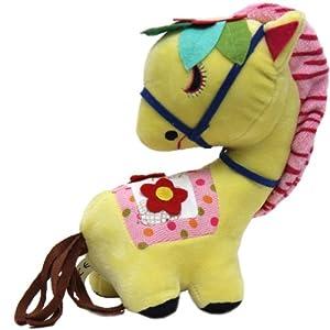 创意回眸马 马年吉祥物 礼品小马毛绒玩具 马玩偶 马公仔 (黄色)