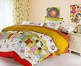 (家纺节,优惠闪购)VooChoo 卧趣 全棉斜纹被套床单双人四件套 超耐磨环保染色 AB版加柔 适合1.5/1.8米床 好伙伴-图片