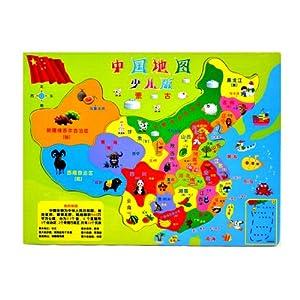 中国地图少儿版 3d木质拼图图片