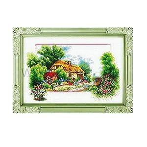 恋美印布十字绣 36168 春季风景(图案印在布上无需画格) 中格 11ct