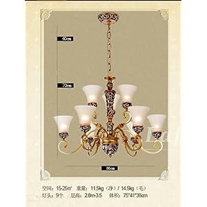 欧式复式楼大厅吊灯 别墅客厅双层长吊灯