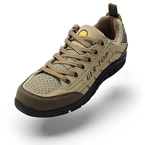 GERTOP 德意志山峰 男鞋 夏季透气网布鞋男户外休闲徒步鞋
