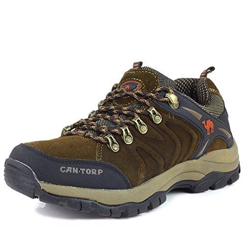 cantorp 骆驼男鞋反绒皮户外登山鞋冬季新款保暖耐磨防滑低帮鞋 男式商务休闲鞋LT-D13050