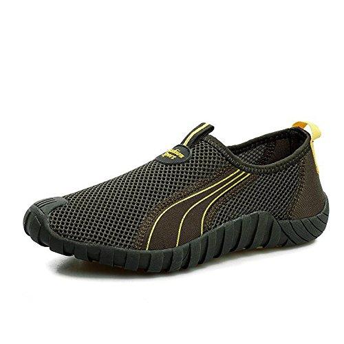 情侣款网鞋男鞋夏季透气休闲鞋 网布鞋洞洞鞋鸟巢鞋一脚蹬男鞋懒人鞋子男女徒步鞋
