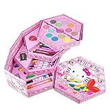儿童学习用品   儿童全套彩笔绘画文具套装礼盒  生日礼物(共46件组合) (KITTY猫套装)-图片