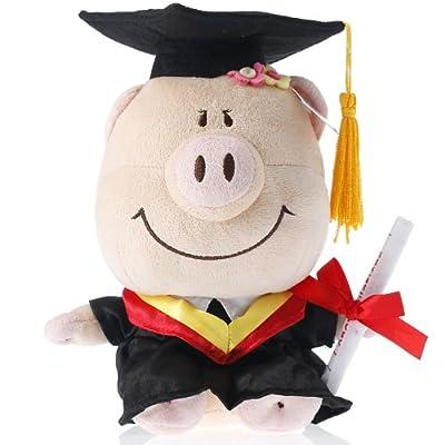 博士帽卡通猪(女)h21cm