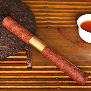 和卉堂 套装功夫茶具整套茶海茶杯茶针缅甸花梨瘿木铜
