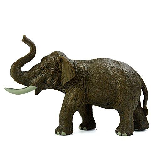 野生动物 精品仿真小动物模型玩具 狮子河马大象长颈鹿 (亚洲大象)