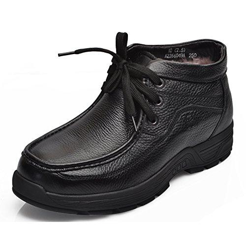 Camel 骆驼 男靴 2013冬季新款真皮休闲羊毛内里保暖男鞋 A2266049