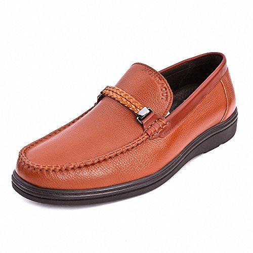 Montagut 梦特娇 男鞋正品 2013秋款商务休闲鞋 宽版软皮日常单鞋Q3317002A