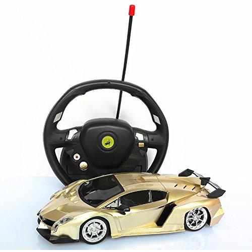 Marjst 明顺佳 1:20重力感应 悬空操作方向盘遥控兰博基尼玩具车 法拉利跑车 漂移赛车 儿童玩具 (土豪金)-图片