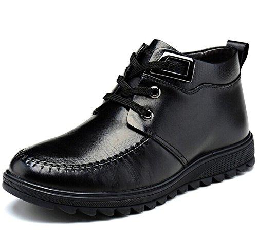 FUGUINIAO 富贵鸟 英伦男士系带保暖加毛绒高帮经典真皮牛皮商务休闲鞋正装鞋透气皮鞋子复古男鞋子