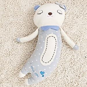 可爱弯弯熊公仔人体睡觉抱枕头情侣布娃娃