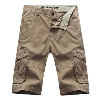 吉普盾 nianjeep 男装夏季 男裤子休闲 宽松短裤多袋纯棉高清图片