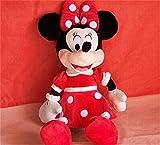 yctoy源辰玩具米老鼠毛绒玩具 迪斯尼米奇米妮公仔 情侣布娃娃玩偶生日礼物一对 (45厘米, 红色米妮)-图片