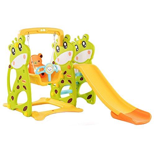 室内外宝宝滑梯 多功能滑梯秋千投篮组合 健身玩具 婴幼儿滑梯 投篮